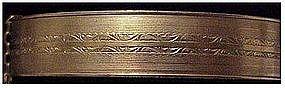 "Gold filled hinged bracelet  (no initials) 1/2"" wide"