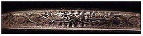 "Gold filled hinged bracelet  (no initials) 1/4"" wide"