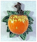 McCoy Orange fruit  wall pocket ( Early 1950's)
