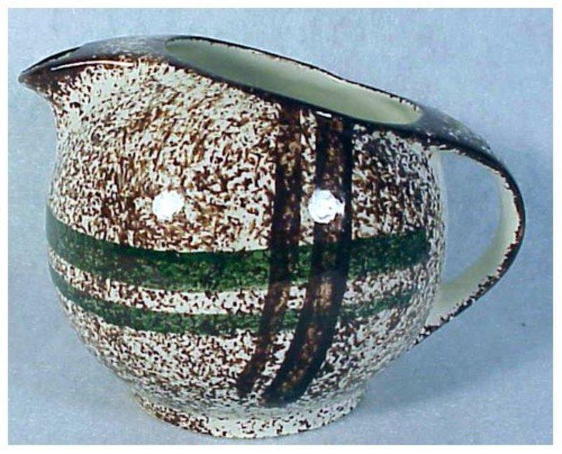 Rustic Plaid Blue Ridge Southern Pottery creamer