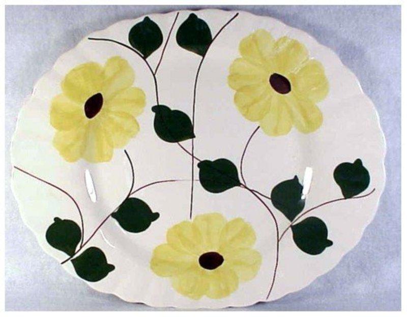 Ridge Daisy Blue Ridge So Pott oval serving platter