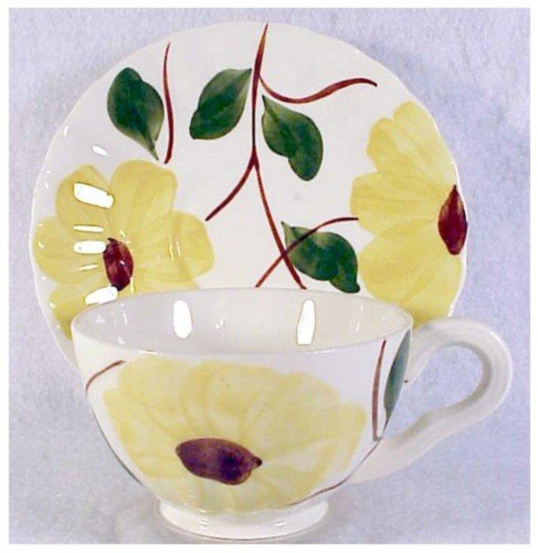 Ridge Daisy Blue Ridge So Pott cup & saucer set