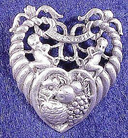 Cini sterling: Zodiac Gemini pin (May 21-June21)-small