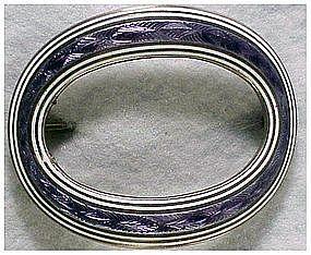Kerr Sterling guilloche lavender and white enamel pin