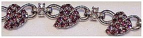 Pennino link bracelet with bunch of grapes rhinestones