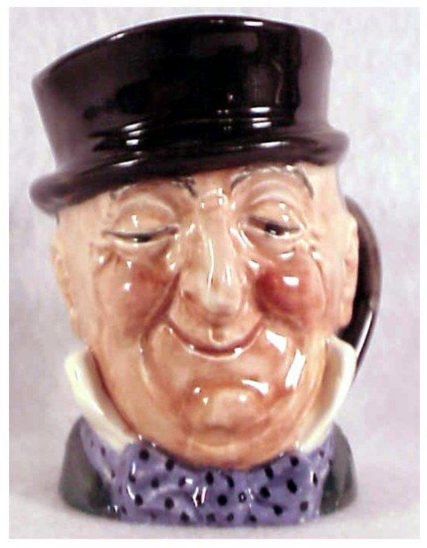 """Royal Doulton Mr. Micawber character jug-A Mark 3 1/4"""""""