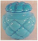 Consolidated Cased Glass Regent line cookie jar-blue