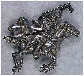 "Alexander Korda ""Thief of Bagdad"" cloaked rider pin"