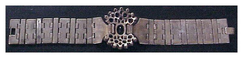 Trifari A. Philippe gold tessellations link bracelet