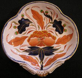 Granger Worcester Porcelain Shell Dish in Japan Pattern