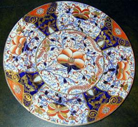 Ashworth imari pattern ironstone dinner plate, Ca 1865