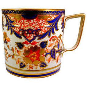 """Antique Derby Porcelain """"King"""" Pattern Porter Mug"""