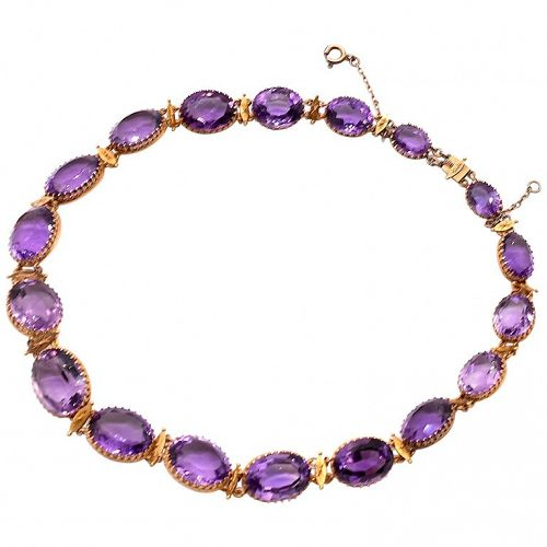 Amethyst Gold Riviere Necklace