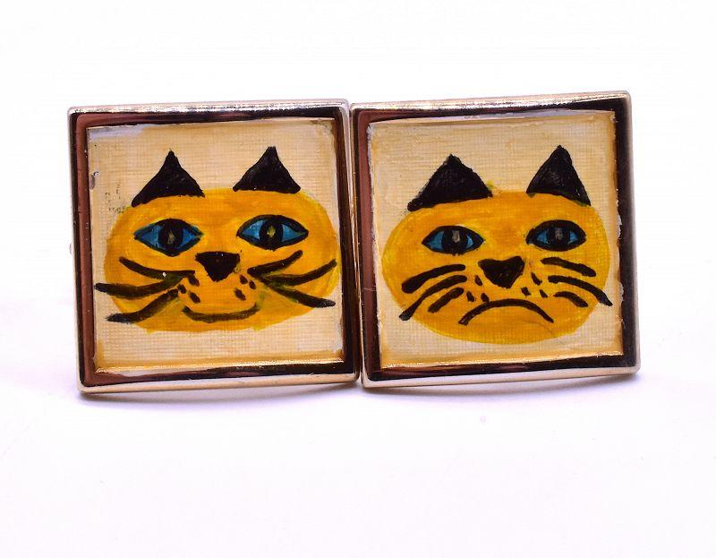 c.1960 Cat Cufflinks