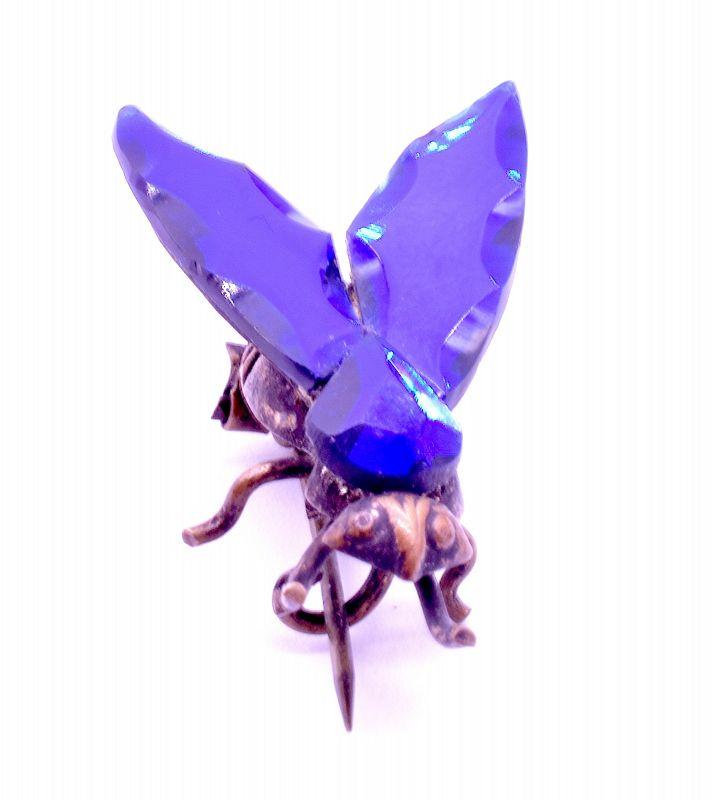 Vauxhall Bristol Blue Bug Brooch c.1860