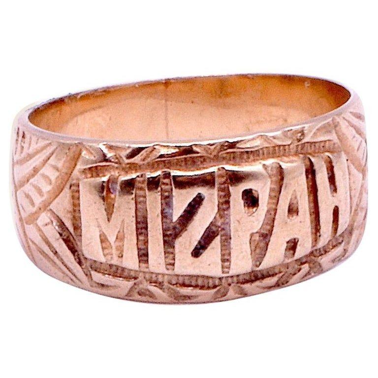c.1900 9k Mizpah Ring