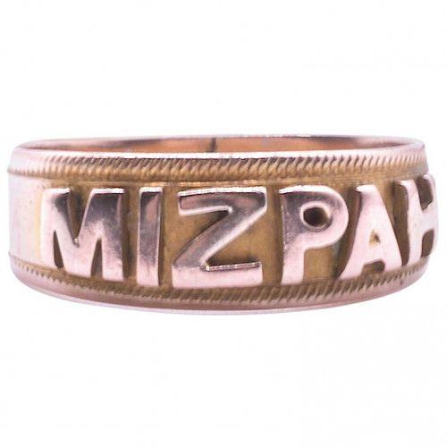 Mizpah Ring in 9k HM Birmingham, 1908
