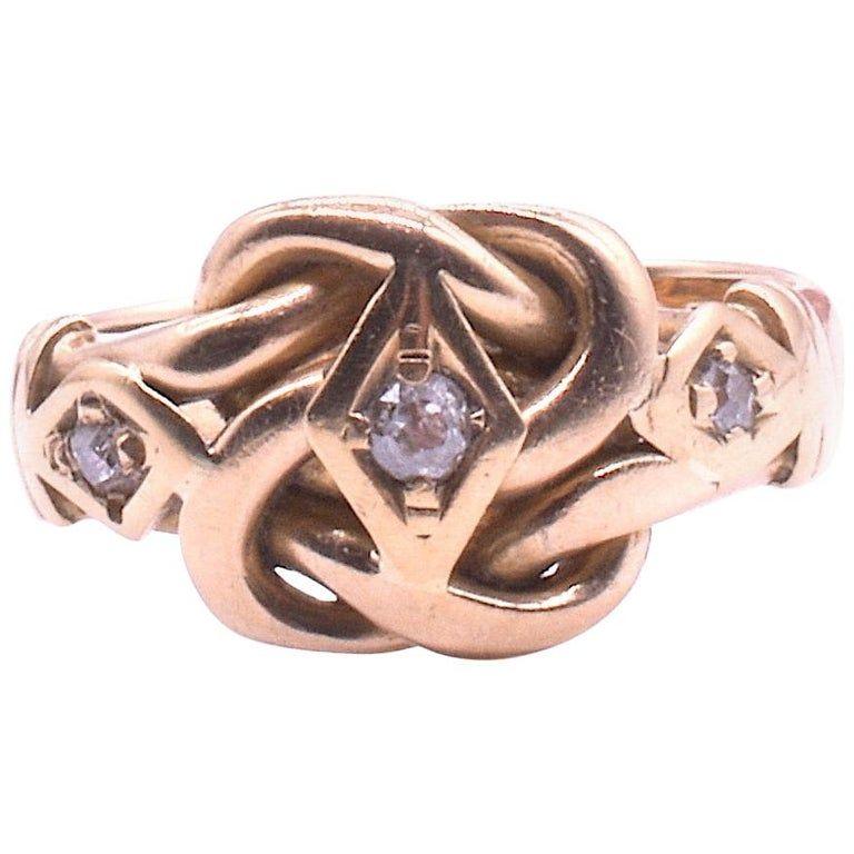 Diamond Lover's Knot Ring  in 18K HM Chester 1909