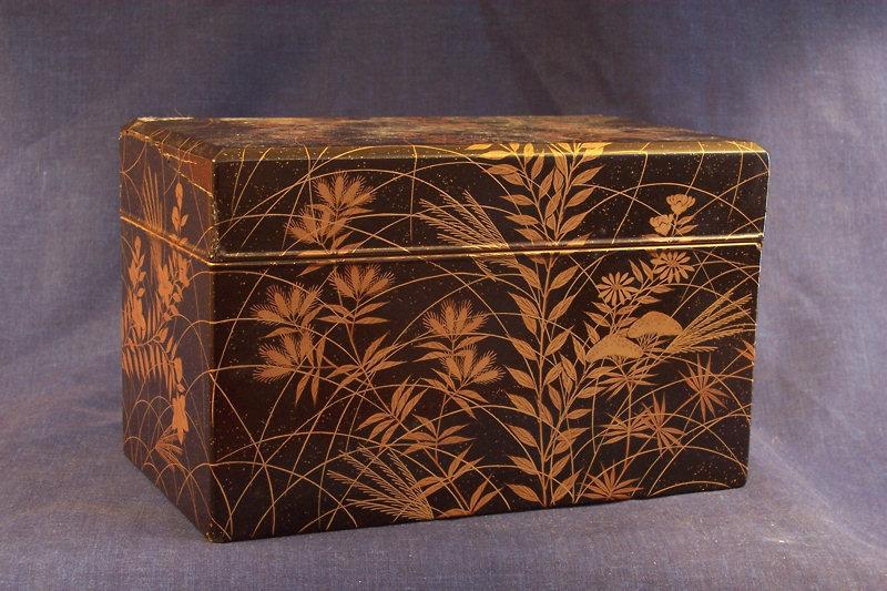 Japanese Edo Period Rimpa School Lacquer Box