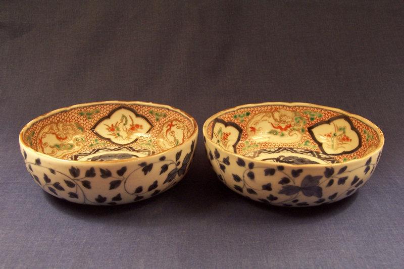Another pair of Japanese Imari Porcelain Bowls Ca 1900