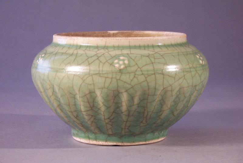 Chinese Celadon Inverted Rim Porcelain Alms Type Bowl