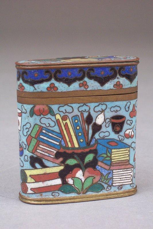 Good 19th Century Cloisonne Opium Container - Treasures