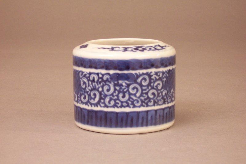 Unusual Japanese Blue and White Porcelain Koro