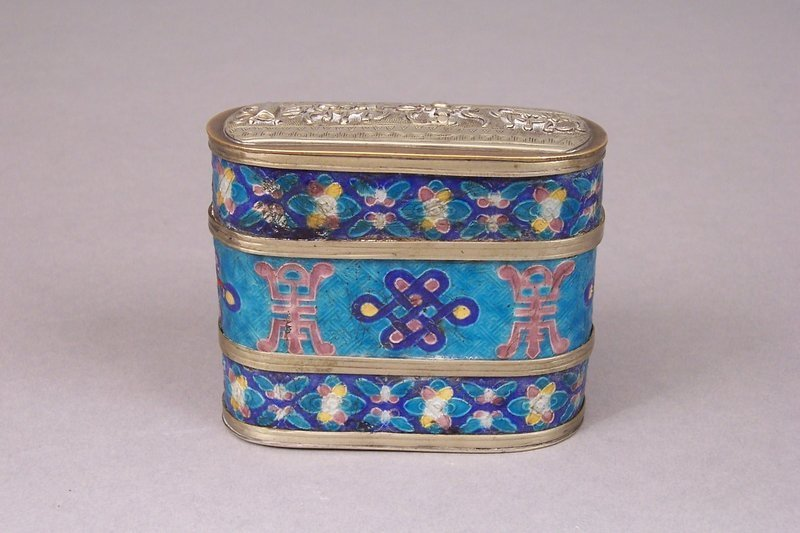Antique Cloisonne and Mixed Metals Opium Container
