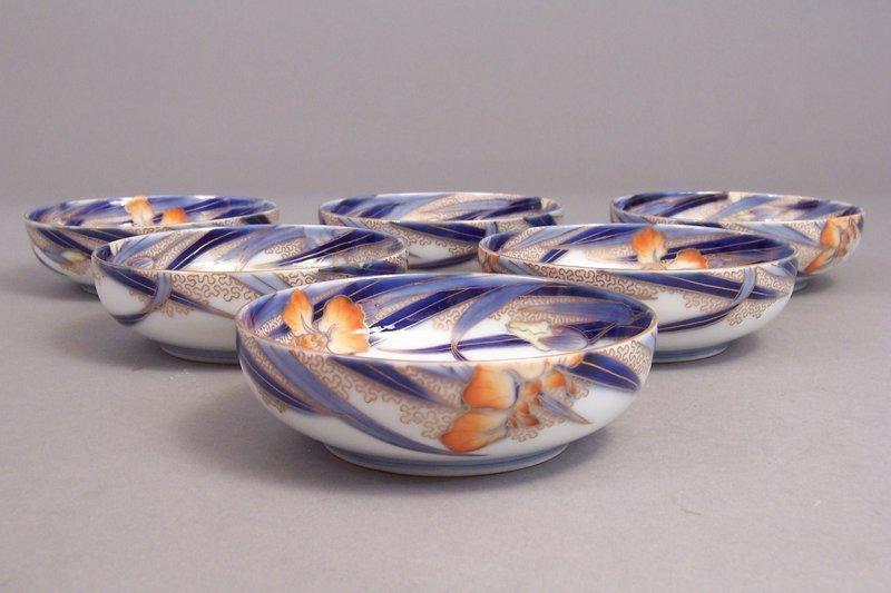 Fukagawa Iris pattern 4 1/2 inch Mukozuke
