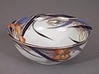 Fukagawa Iris pattern 7 1/4 inch diameter bowl