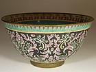Chinese Porcelain Thai Market Benjarong Bowl, 19th Century