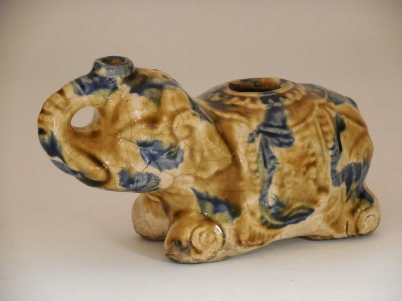 Sancai Glazed Elephant Vessel, Cizao style, Southeast Asian Market