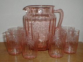 Pink Mayfair Water Set