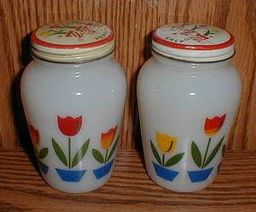 White Tulips Salt & Pepper Shakers