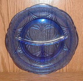 Cobalt ROYAL LACE Grill Plates