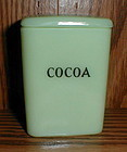 """Jadeite Childs 3"""" Cocoa Canister"""