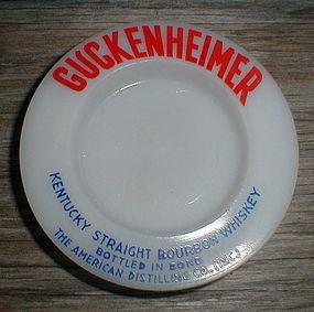 "GUCKENHEIMER Bourbon 3"" Glass Ash Tray"