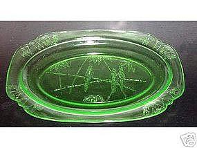 """Green PARROT 11 1/4"""" Platters"""