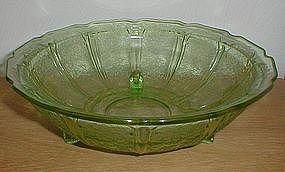 "Green CHERRY BLOSSOM 10 1/2"" 3 Legged Bowl"