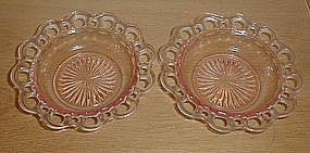 """Old Colony - Lace Edge 6 3/8"""" Cereal Bowls pink"""