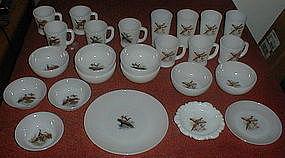 Fire King GAME BIRDS Bowls, Mugs, Tumblers