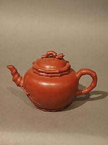 Bamboo Motif Yixing Teapot by Tan Yuewei
