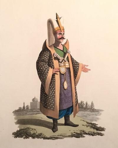 COLONEL JANIZARIES Military Costume Turkey McLean 1818 London