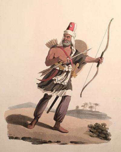 JANIZARY ARABIA FELIX Military Costume Turkey McLean 1818 London