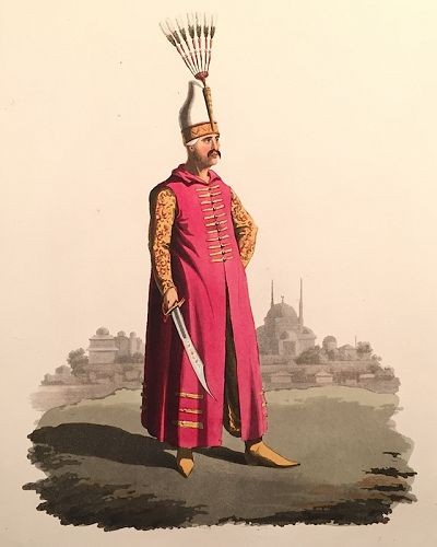 OFFICER JANIZARIES Historical Military Costume Turkey 1818 London
