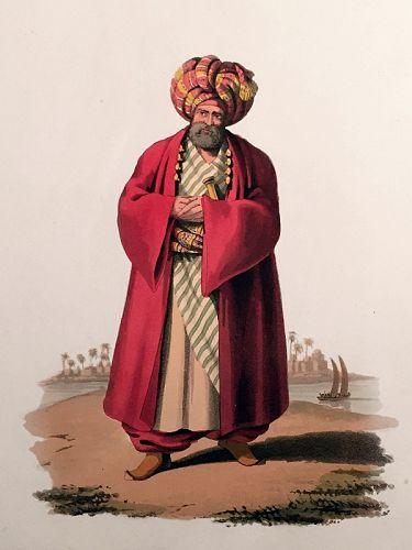 PACHA Military Costume Turkey Engraving Thomas McLean 1818 London
