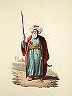 OFFICER MAMELUKE Military Costume Turkey 1818 London