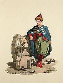 OFFICER ARTILLERY Military Costume Turkey 1818 London