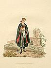 BRIDE YOUNG EGRA Engraving Costume Austria 1804 London Antique Print