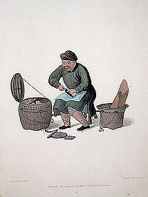 SHOEMAKER Engraving Costume China 1800 London Antique Print